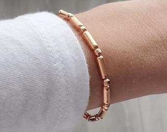 "Solazur copper bracelet (and rings) ""Codex"""