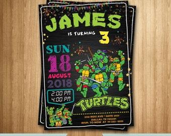NINJA TURTLES Invitation, Ninja turtles Birthday, Ninja turtles Party Invitation, Ninja turtles Birthday Invitation, Ninja turtles Invite
