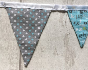 Handmade double sided bunting 15 flags