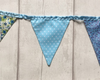 Handmade double sided bunting 14 flags