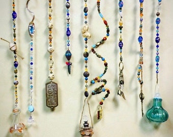 Whimsical Sun Catcher, Eclectic Garden Art, Dreamy Wind Chime