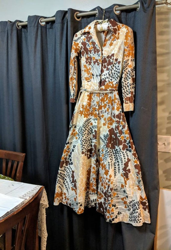 Vintage Tori Richard 1960s maxi dress