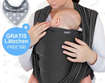 Baby Scarf Dark Grey – Makimaja ®-High quality baby sling made of cotton, baby sling, baby gift, free shipping to de