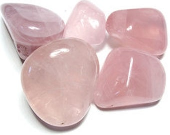 Rose Quartz Tumbled Stones - 1 LB