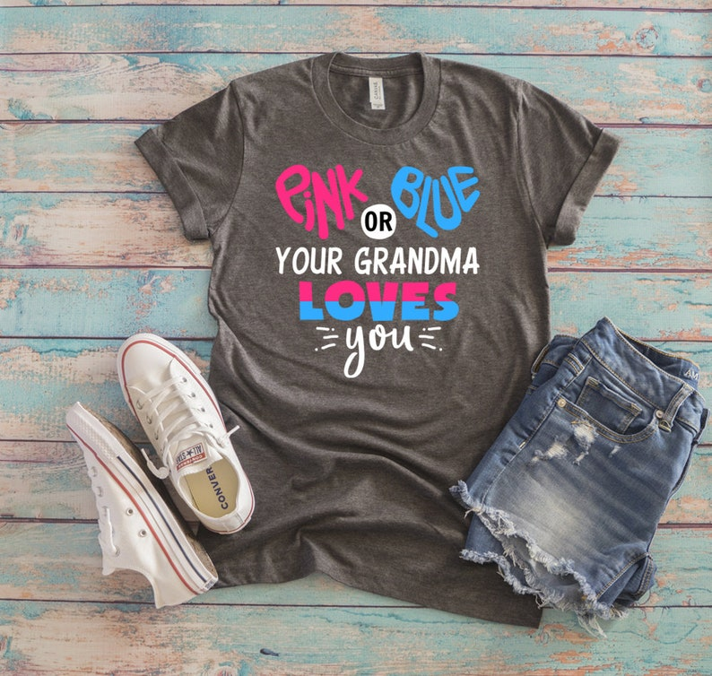 Grandma Shirt Gender Reveal Shirt Gender Reveal Party Etsy