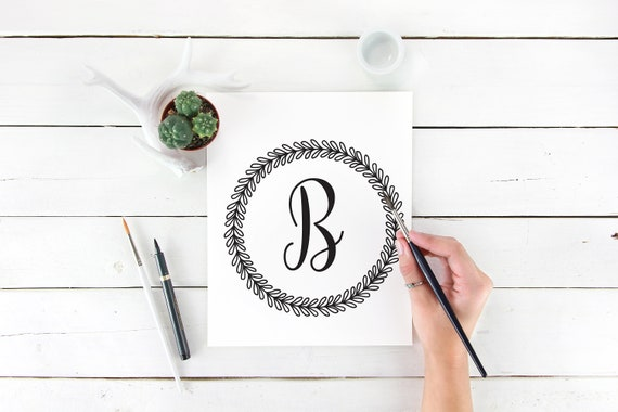 Letter B Print Letter Wall Decor Letter B Wall Art Letter B Decor Alphabet Letters Initial Print Initial Printable Printable Wall Art