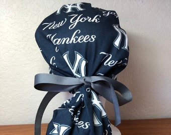 New York Yankees Ponytail Surgical Scrub Cap for Women 1c713c32a46
