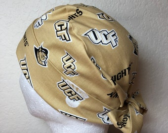 29cf2364 University of Central Florida Knights Pixie Tie-Back Scrub Cap for Women,UCF  Knights Scrub Cap,Pixie Surgical Cap,Tie-Back Scrub Hat,UCF Hat