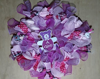 Baby girl gifts in Pink Wreath for Baby Shower/Gender reveal (Handmade)