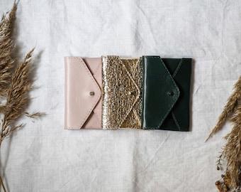 Leather wallet envelope wallet card holder Envelope card holder