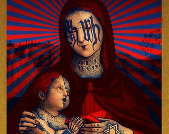 Bondieuserie Madonna with child
