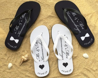 da6d87a5b696 Just married flip flops