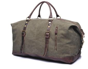 c87ea730fb77 Travel Bag Weekender Duffel Bag For Men Canvas Duffel Bag Leather Duffel  Bag Mens Weekend Bag Canvas Weekender Bag Gifts For Best Man