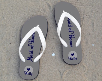 0fed4200a398ab Personalized Flip Flops for Bride
