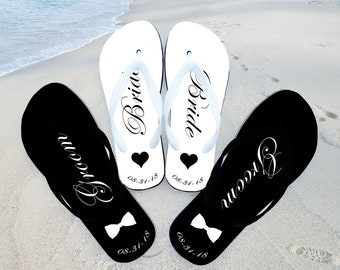 2a69e2bd61f00 Just married flip flops