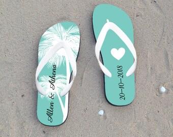 87752b3543dccb Custom flip flop for wedding guest