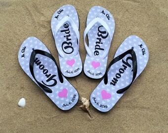 b05d6db3a Beach Wedding Flip Flops