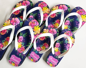 bbffb2c3392 Bridesmaid flip flop