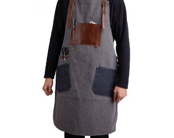 Over Sized Leather Shop Apron Safety Apparel For Woodworking Glass