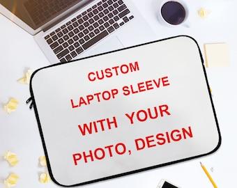 Personalized Laptop Sleeve, Custom Macbook Sleeve, Custom Laptop Sleeve , Design Your Own,Photo Laptop Sleeve with Name ,Monogram