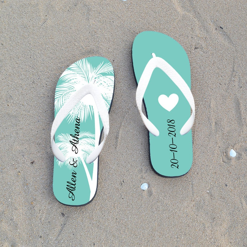 2b3ef98aef6b3b Custom flip flop for wedding guest personalized flip flops