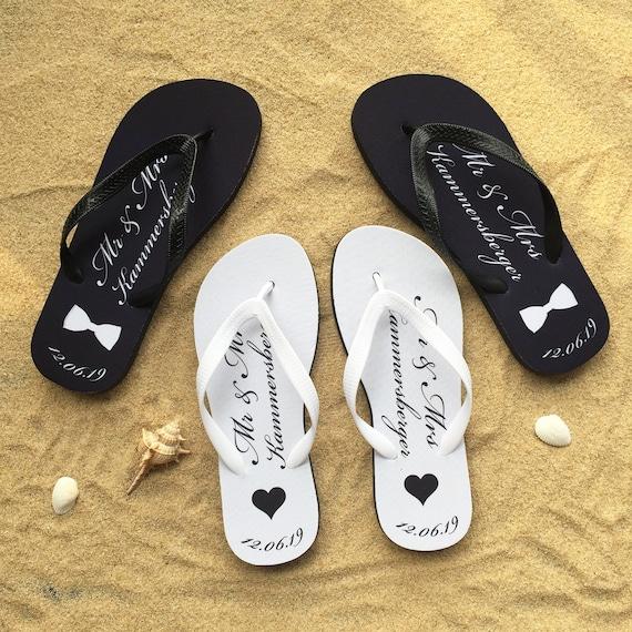 BLACK JUST MARRIED FLIP FLOPS HEN PARTY ACCESSORIES BRIDE TO BE GIFT HONEYMOON