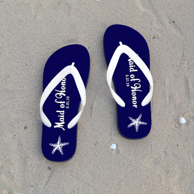 2415d1b78 Bridesmaid Flip Flops Personalized Flip Flops for Bridesmaid