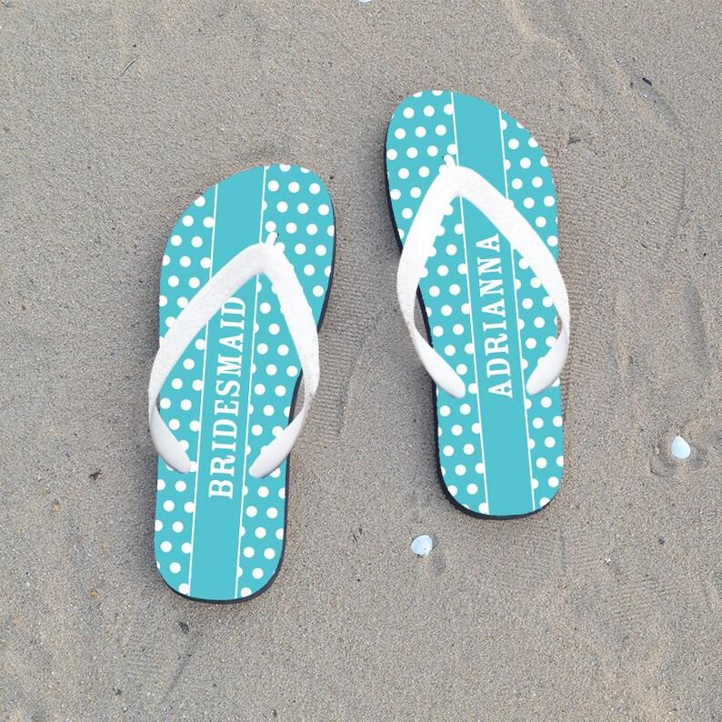 108110ada Bridesmaid flip flops custom flip flops wedding flip flops