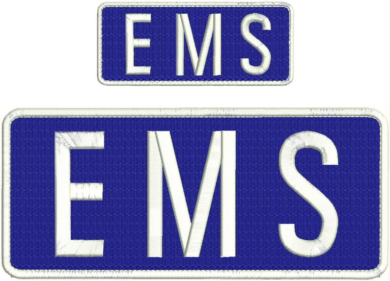 AEMT EMBROIDERY PATCH  4X10 AND 2X5 HOOK  ON BACK  OD//SILVER FIRE