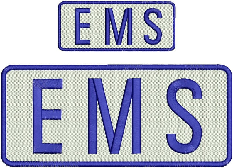 MEDIC Embroidery Patches 3x10 and 2x4 hook black and gold