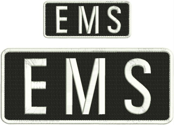 Fire and Rescue embroidery patches 4x10 and 2x5 hook on back red letters