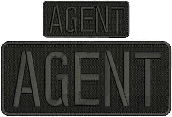 Secret Service Embroidery Patches 4x10 and 2x5