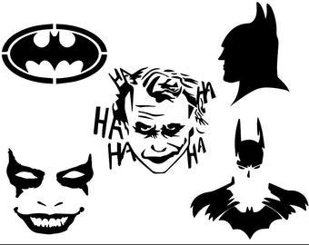 Batman And Joker Svg Etsy