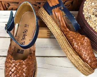 4692c267643c18 Artisanal Platform Sandal. Mexican Leather Sandal. Cute summer sandal. Free  Shipping