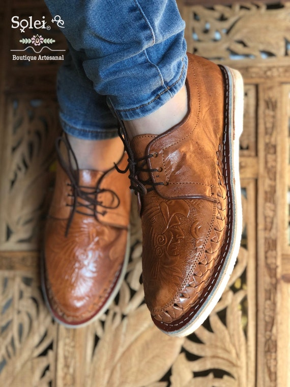 Men's Artisanal Shoes. Mexican Leather Huarache. Aztec Design Huaraches.  Men's Formal Shoe.Mexican Huarache.Formal Huarache.Fathers Day Gift