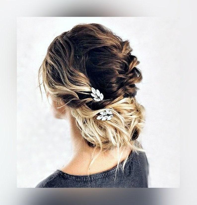 Haarspange Set Ohrclips schwarz gold Haarschmuck Damen Accessoire Frisur