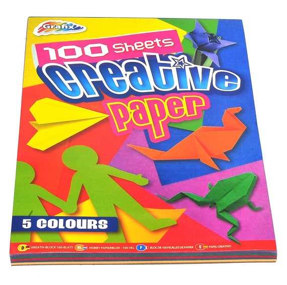Origami Blaetter , 100 Sheets Of Multicoloured A4 Creative Paper Sheets Diy Kids