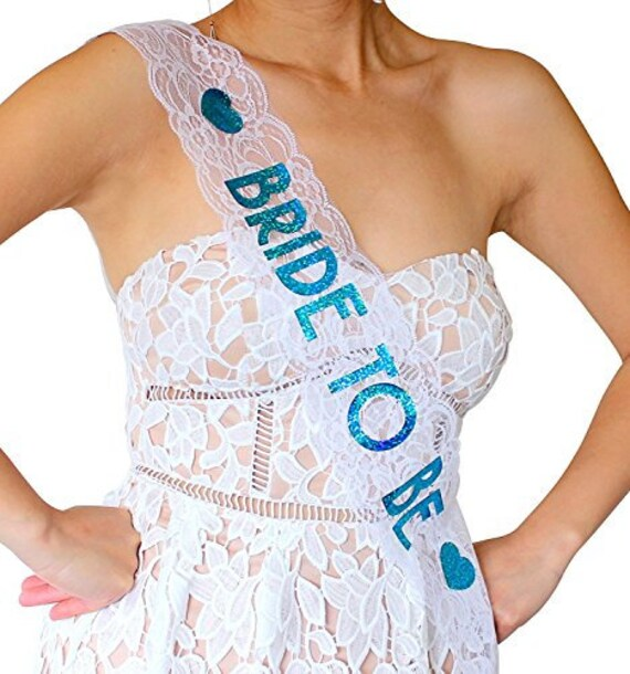 White Lace Sash Girls/' Night Out Hen Party Fancy Dress Accessary