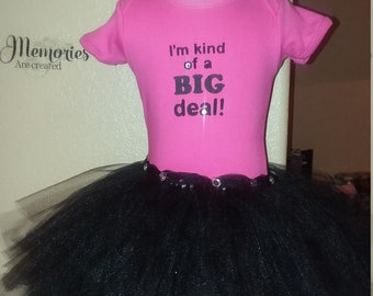 Pink I'm a big deal dress with head bow
