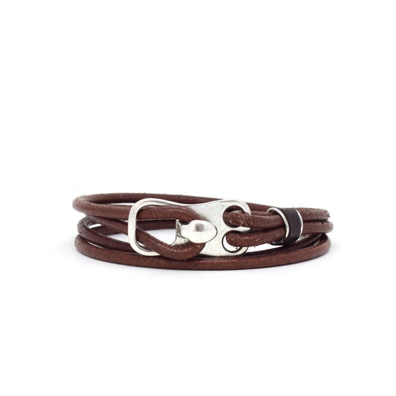 Men/'s Jewelry Leather Wrap Bracelet Rustic Leather Jewelry Men/'s Leather Bracelet Gift for Him