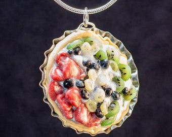 Miniature Fruit Tart Necklace
