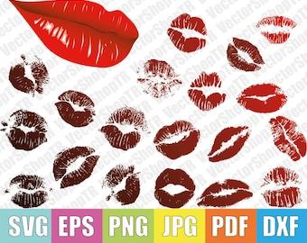 Lips lip print  svg, png, pdf, jpg, eps, dxf, t-shirt, clipart
