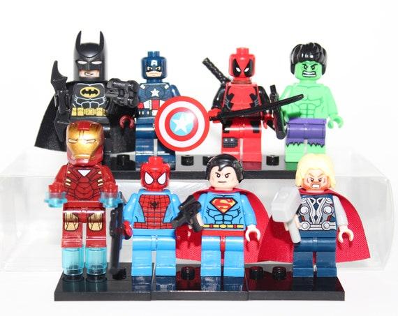 8pc 8pc 8pc Superhero Minifigures Set Marvel Avengers & DC Comics  Etsy 2383c6