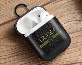 1a0a55fc1c Gucci AirPods Leather Case Gucci Headphones Cover Gucci Logo Protective  Case Gucci Airpod Case Gucci Air Pods Holder Case Gucci Guard EP0281
