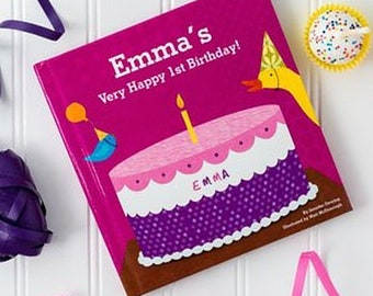 Personalized Custom Birthday Book For 1st First Second Third Girls Gift