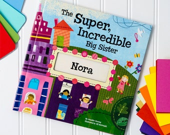 The Super, Incredible Big Sister Personalized Name Book with Medal - Big Sibling Gift | I See Me!