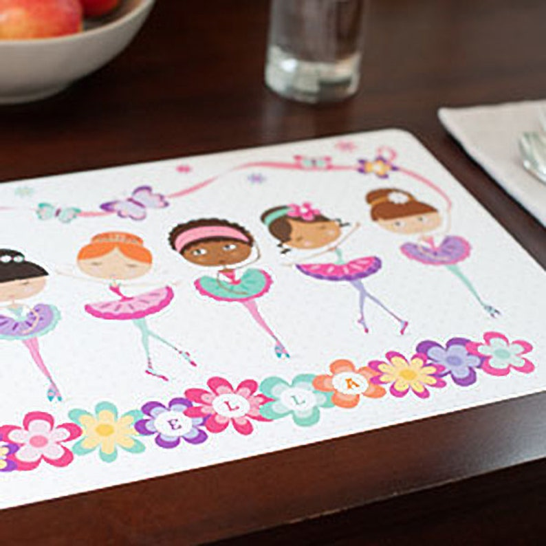 PL119 Personalized Place Mat for Kids Name
