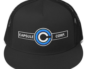 8d0ab3cce12dea Capsule Corp embroidered 5 panel Trucker Cap | Dragon Ball Hat | Trucker Cap  | Cap | Dragon Ball Gift | Manga gift | anime hat | dragon ball