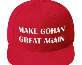6bd46d05bccca8 Make Gohan Great Again Dragon Ball Super Hat | Baseball Hat | Cap | Dragon  Ball Gift | Snapback Hat