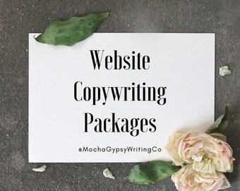Website Copy Writing Packages~ Custom Website~ Copywriting Services~ Web Copywriter~ Business Website~ eCommerce Website~ Brand Story